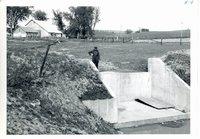 Carl Heick's drop spillway, 1961