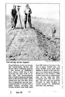 Terracing saves topsoil