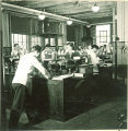 Pharmacy students working in a laboratory, The University of Iowa, November 8, 1940