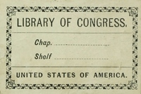 Library of Congress bookplate