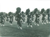 Scottish Highlanders practicing, The University of Iowa, 1960s?