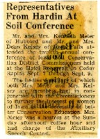 Representatives from Hardin at soil conference.