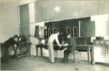 Students working in an electrical engineering laboratory, The University of Iowa, 1930