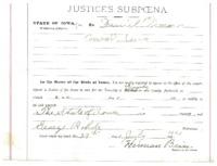 Subpoena, 1921