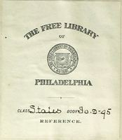 The Free Library of Philadelphia bookplate