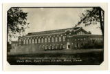 Southeast view of State Gymnasium and the handball courts, 1928