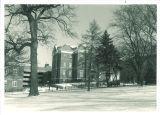 Calvin Hall between Halsey Hall and Gilmore Hall, The University of Iowa, 1970s