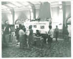 Yearbook booth in the Iowa Memorial Union, the University of Iowa, 1965