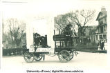 Liberal arts float in Mecca Day parade, The University of Iowa, 1920s