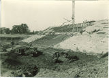 Construction of Kinnick Stadium bleachers, the University of Iowa,