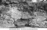 Unconformity between Carboniferous and Devonian, Montpelier, Iowa, late 1890s or early 1900s