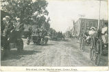 Men and women in cars and carriages, Cresco, Iowa, September 18, 1912