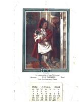 Beaman, Iowa cafe Calendar, 1922