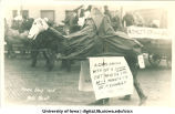 Camel in Mecca Day parade, The University of Iowa, 1915