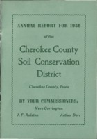 Cherokee County Soil Conservation District Annual Report - 1956