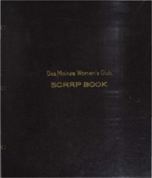 Des Moines Women's Club Scrapbook 1885-1893