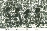 Scottish Highlander drummers, The University of Iowa, 1979