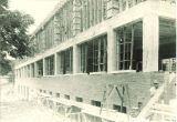 Construction of the westside of the Chemistry and Botany Building, The University of Iowa, August 8, 1922