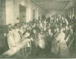 College of Dentistry laboratory clinic junior class, The University of Iowa, 1911