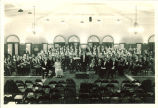 Orchestra and choir in Christmas concert at Iowa Memorial Union, The University of Iowa, December 1931
