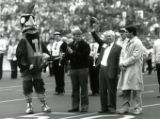Cy's Favorite Alum at Homecoming Game halftime, 1987