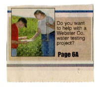 Do You Want To Help With a Webster County Water Testing Project