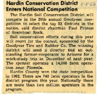 Hardin conservation district enters national competition.