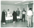 Reception for newly built Main Library, The University of Iowa, 1951