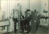 Student in Physics laboratory, The University of Iowa, 1920s