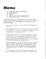 009. Supreme Court Memo Rules Renumbering Project - Formatting Decisions, 04/26/00