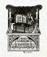 Chiam Kotylansky Bookplate