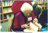 """More Strong-Minded Women"" book signing at Borders, Des Moines, Iowa, December 6, 1992"