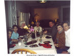 Louise Noun having dinner at Rekha Basu's home, March 2001