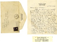 Thank You letter from Flora N. Davidson to Helen Patricia (Patsy) Wilson, also containing bookplates.