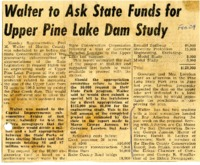 Upper Pine Lake dam study seeks funding.