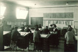 Art classroom on the third floor of the Physics Building, The University of Iowa, 1920s