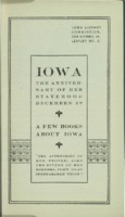 Iowa: A Few Books About Iowa, The Anniversary of her Statehood December 28