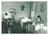 Student dorm room in Currier Hall, The University of Iowa, 1950s