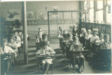 Elementary reading class in Old Dental Building, The University of Iowa, 1919