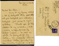Mrs. H. Strong letter to Helen Patricia (Patsy) Wilson exchanging bookplates.