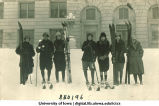 Women's skiing class, The University of Iowa, January 1925