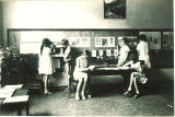 Classroom of students at school open house, The University of Iowa, June 1, 1930