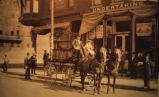 J.B. McCurdy and Company Horse and Buggy Street Scene, Oskaloosa, Iowa, Circa 1905