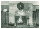 Fireplace in the Iowa Memorial Union, the University of Iowa, December 1952