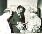 Mary Louise Smith with Iowa politicians, Des Moines, Iowa, 1970s