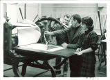 Mauricio Lasansky and students in printmaking studio, The University of Iowa, 1960