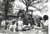 Outdoor classroom with Ed Hix, 1987