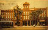 Lacey Hotel and Streetcar Scene, Circa 1910, Oskaloosa, Iowa