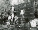Sigma Phi Epsilon lawn display, Homecoming, 1951