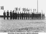 ROTC company guidons at Governor's Day ceremony, The University of Iowa, 1929